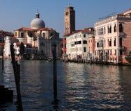 Μεγάλο κανάλι στη Βενετία Στοκ Εικόνες