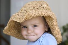 μεγάλο καπέλο παιδιών Στοκ Φωτογραφίες
