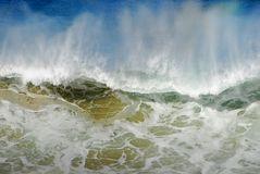 μεγάλο καταβρέχοντας κύμα ύδατος Στοκ Εικόνες