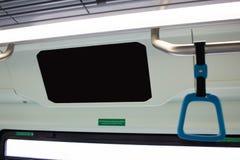 Μεγάλο κενό σημείο διαφημίσεων στο λεωφορείο τραίνων στοκ φωτογραφίες