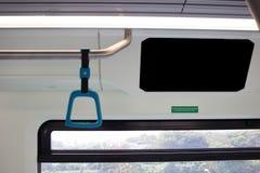 Μεγάλο κενό σημείο διαφημίσεων στο λεωφορείο τραίνων στοκ εικόνες
