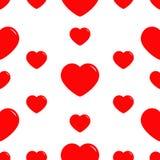 Μεγάλο κόκκινο άνευ ραφής σχέδιο καρδιών Τυλίγοντας έγγραφο, υφαντικό πρότυπο Ευτυχές σύμβολο σημαδιών ημέρας βαλεντίνων Άσπρη αν Στοκ Φωτογραφίες