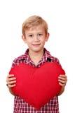 μεγάλο κόκκινο καρδιών αγοριών Στοκ φωτογραφίες με δικαίωμα ελεύθερης χρήσης