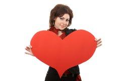 μεγάλο κόκκινο καρδιών peper Στοκ εικόνα με δικαίωμα ελεύθερης χρήσης