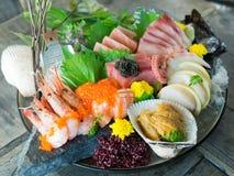 Μεγάλο κύπελλο ιαπωνικό Sashimi στοκ εικόνα