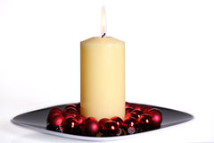 μεγάλο λευκό κεριών καψίματος Στοκ φωτογραφίες με δικαίωμα ελεύθερης χρήσης