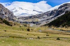 Μεγάλο λιβάδι στην κοιλάδα Ordesa, Αραγονία, Ισπανία Στοκ εικόνα με δικαίωμα ελεύθερης χρήσης