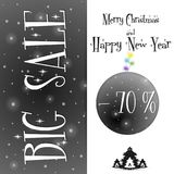 Μεγάλο μαύρο πρότυπο πώλησης Χριστουγέννων ελεύθερη απεικόνιση δικαιώματος
