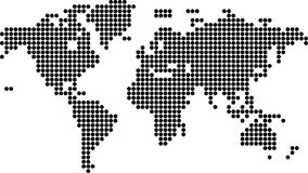 Μεγάλο μαύρο σημείο παγκόσμιων χαρτών Στοκ φωτογραφία με δικαίωμα ελεύθερης χρήσης