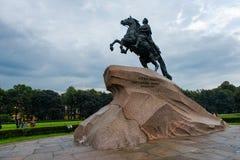 μεγάλο μνημείο Peter ρωσικά αυτοκρατόρων Στοκ Φωτογραφία
