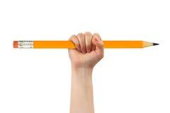 μεγάλο μολύβι χεριών Στοκ εικόνες με δικαίωμα ελεύθερης χρήσης