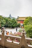 Μεγάλο μοναστήρι του Βούδα και Po Lin στο Χονγκ Κονγκ Lantau Στοκ φωτογραφίες με δικαίωμα ελεύθερης χρήσης