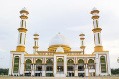 Μεγάλο μουσουλμανικό τέμενος Kisaran, Masjid Agung Kisaran, Ινδονησία στοκ φωτογραφίες με δικαίωμα ελεύθερης χρήσης