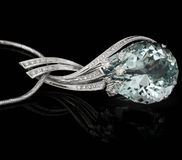 μεγάλο μπλε διαμάντι Στοκ Εικόνες