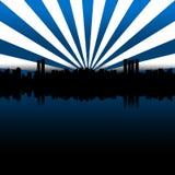 Μεγάλο μπλε πόλεων στοκ εικόνα
