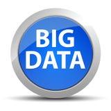 Μεγάλο μπλε στρογγυλό κουμπί στοιχείων διανυσματική απεικόνιση
