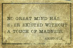 Μεγάλο μυαλό Αριστοτέλης στοκ φωτογραφίες με δικαίωμα ελεύθερης χρήσης