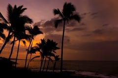 Μεγάλο νησί Χαβάη ηλιοβασιλέματος Kona στοκ φωτογραφία με δικαίωμα ελεύθερης χρήσης