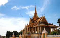 μεγάλο παλάτι της Καμπότζης Στοκ φωτογραφία με δικαίωμα ελεύθερης χρήσης