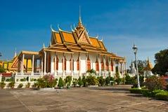 μεγάλο παλάτι της Καμπότζη Στοκ Φωτογραφία