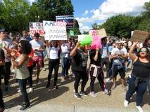 Μεγάλο πλήθος των διαμαρτυρομένων στο Λευκό Οίκο Στοκ Εικόνες