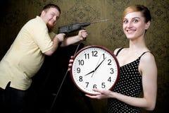 μεγάλο ρολόι νέο Στοκ Εικόνες