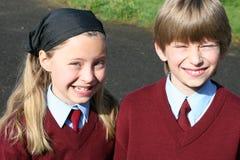 μεγάλο σχολικό χαμόγελ&omicr Στοκ Φωτογραφία