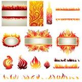 μεγάλο σύνολο πυρκαγιά&sigma Στοκ Εικόνα