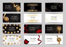 Μεγάλο σύνολο συλλογής μελών πολυτέλειας, πρότυπο καρτών δώρων για την επιχειρησιακή διανυσματική απεικόνισή σας απεικόνιση αποθεμάτων