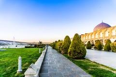 Μεγάλο τετράγωνο naqsh-ε Jahan στο Ισφαχάν - το Ιράν στοκ εικόνα με δικαίωμα ελεύθερης χρήσης