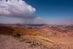 Μεγάλο τοπίο της Ιορδανίας στοκ εικόνα