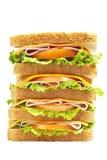 μεγάλο υγιές σάντουιτς ζαμπόν Στοκ εικόνα με δικαίωμα ελεύθερης χρήσης