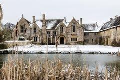 Μεγάλο φέουδο Chalfield, σκηνή χιονιού στοκ εικόνα με δικαίωμα ελεύθερης χρήσης