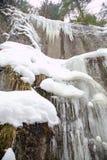 Μεγάλο φαράγγι γερακιών στο σλοβάκικο εθνικό πάρκο παραδείσου το χειμώνα, Σλοβακία στοκ φωτογραφία με δικαίωμα ελεύθερης χρήσης