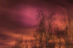 Μεγάλο φεγγάρι στον ουρανό Στοκ φωτογραφία με δικαίωμα ελεύθερης χρήσης