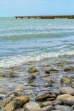 Μεγάλο χαλίκι στην παραλία Στοκ φωτογραφίες με δικαίωμα ελεύθερης χρήσης