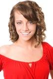 μεγάλο χαμόγελο brunette Στοκ Εικόνες