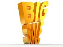 μεγάλο χρυσό κείμενο πώλη& διανυσματική απεικόνιση