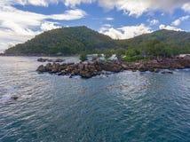 Μεγάλο Anse στο νησί Praslin, Σεϋχέλλες Στοκ φωτογραφίες με δικαίωμα ελεύθερης χρήσης
