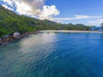 Μεγάλο Anse στο νησί Praslin, Σεϋχέλλες Στοκ φωτογραφία με δικαίωμα ελεύθερης χρήσης