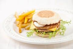 μεγάλο burger Στοκ Εικόνες