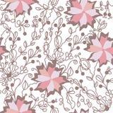 μεγάλο floral πρότυπο λουλο&up Στοκ φωτογραφία με δικαίωμα ελεύθερης χρήσης