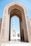 μεγάλο muscat Ομάν μουσουλμανικών τεμενών στοκ εικόνες