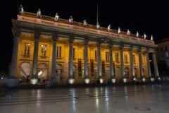Μεγάλο Théâtre de Μπορντώ, η μεγάλη Όπερα θεάτρων στο Μπορντώ στοκ εικόνα