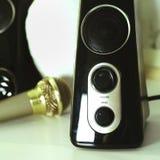 Μεγάφωνα και μικρόφωνο Στοκ εικόνα με δικαίωμα ελεύθερης χρήσης