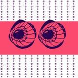 Μεγάλα αφηρημένα μάτια Στοκ φωτογραφία με δικαίωμα ελεύθερης χρήσης