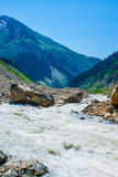 μεγάλα βουνά βουνών τοπίων Καύκασος, Svanetia, Ushguli, Ushba, Γεωργία Στοκ φωτογραφία με δικαίωμα ελεύθερης χρήσης