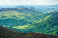 μεγάλα βουνά βουνών τοπίων dombay αιχμές βουνών βουνών Καύκασου ελαφριά σημεία Τα Καρπάθια βουνά, Ukraine Στοκ Εικόνες