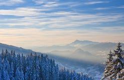 μεγάλα βουνά βουνών τοπίων Schladming australites στοκ εικόνα