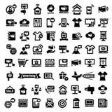 Μεγάλα εικονίδια διαφήμισης καθορισμένα Στοκ εικόνες με δικαίωμα ελεύθερης χρήσης